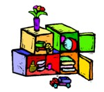 colorful crates for storing toys